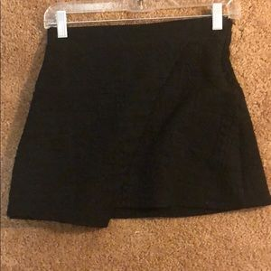 Quilted pattern black skirt